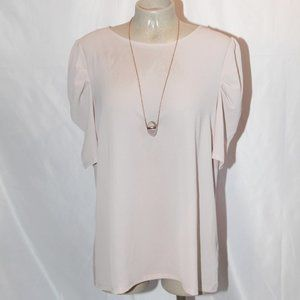 NWT dusty pale pink blouse size 16 balloon sleeve